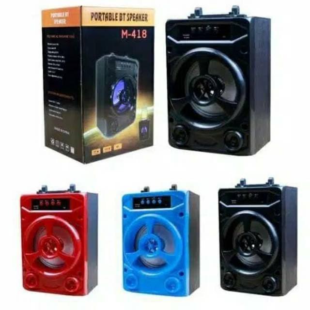 SPEAKER BLUETOOTH M408 M418   SPEAKER PORTABLE MUSIC BOX LAMPU LED
