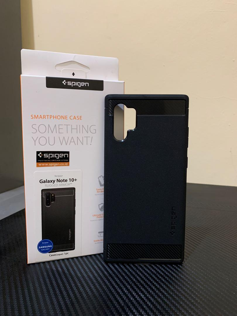 Spigen Rugged Armor Case Samsung Note 10 Plus