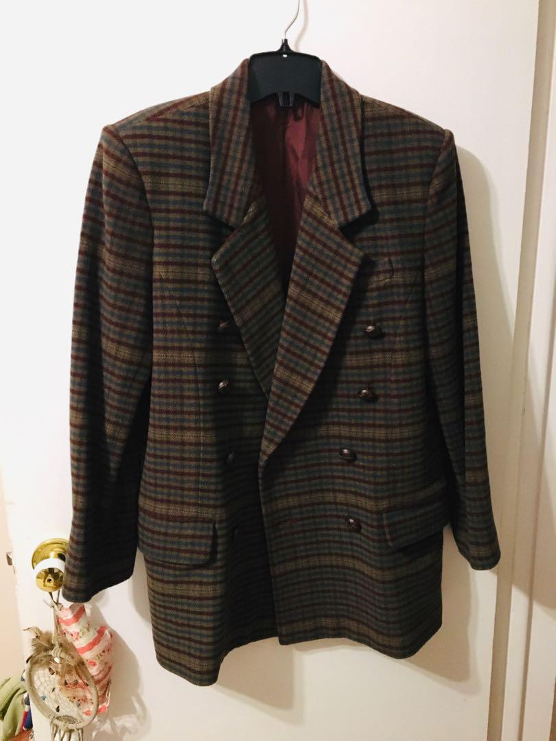 Vintage wool plaid jacket
