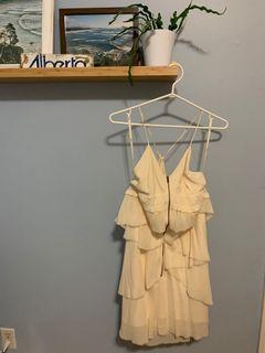 Wilfred 100% Silk Cream Strappy Dress
