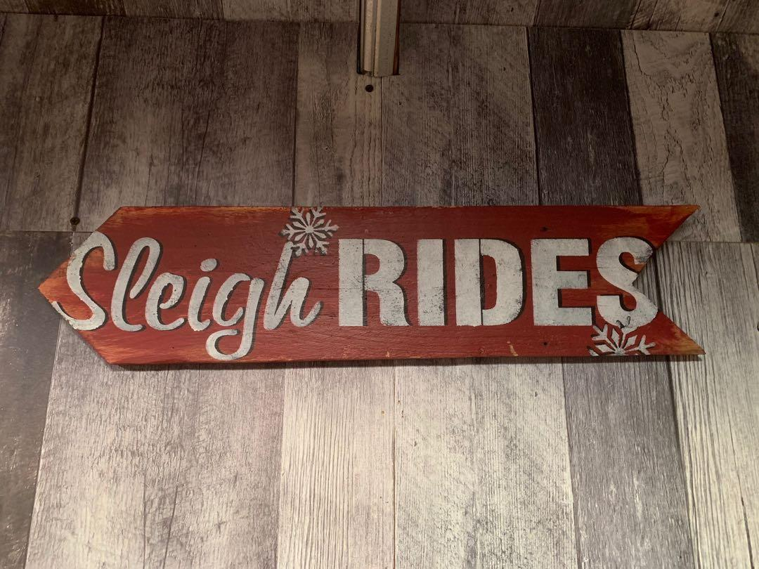 Wooden farm house signs.