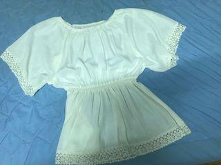 白色仙氣雪紡上衣🦄衣物出清