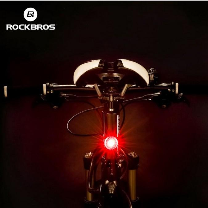 Bike Bicycle Cycling Smart Rear Tail Light LED Lamp Waterproof USB Rechargeable