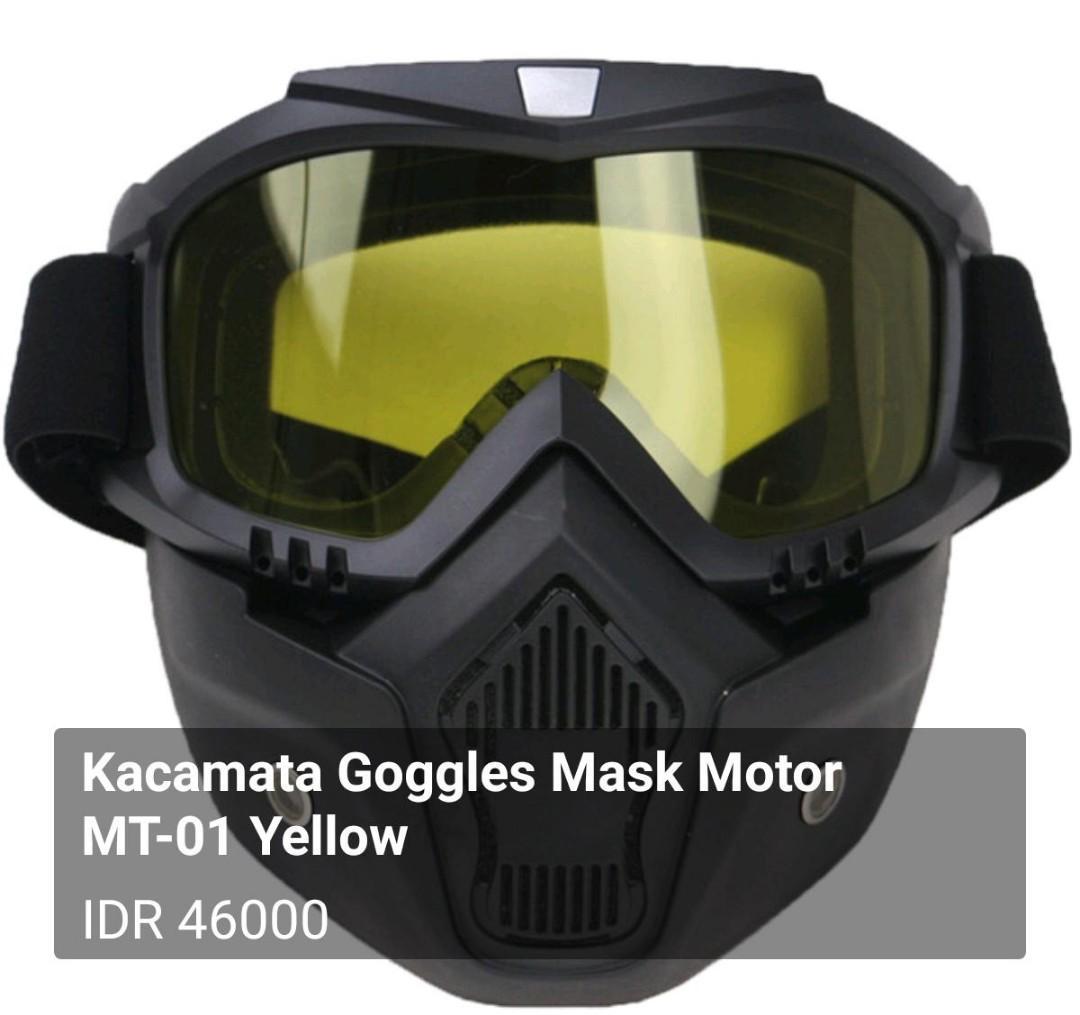 Kacamata Goggles Mask Motor MT-01 Yellow