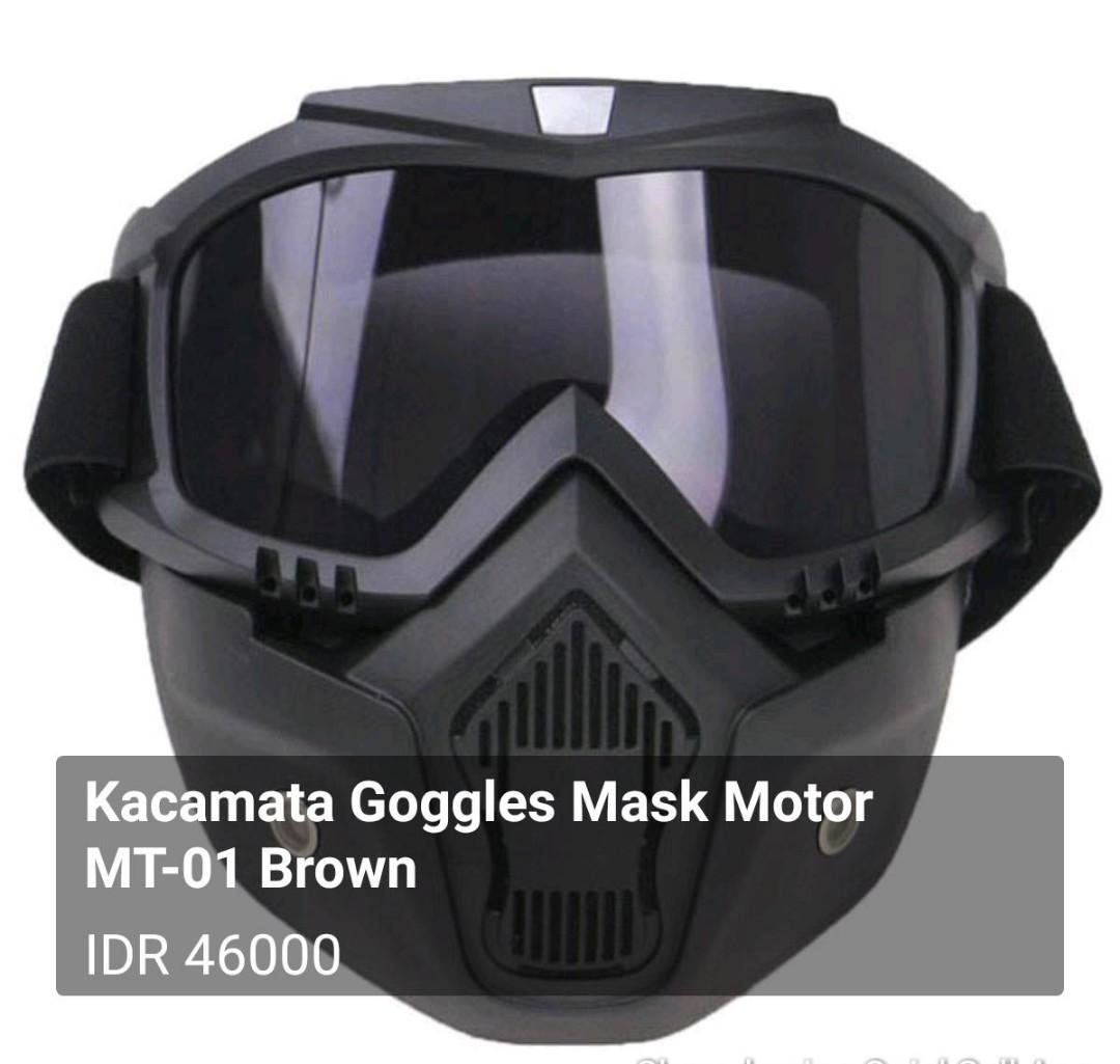 Kacamata Goggles Mask Motor MT-01 Brown