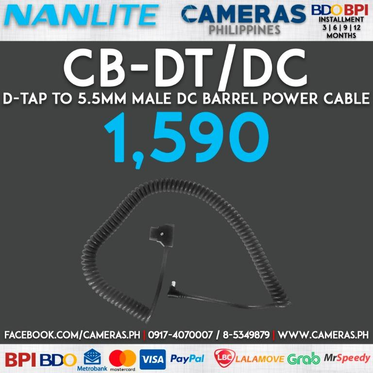 Nanlite D-Tap to 5.5mm Male DC Barrel Power Cable   Credit Card   Installment   Cash   Cameras Philippines