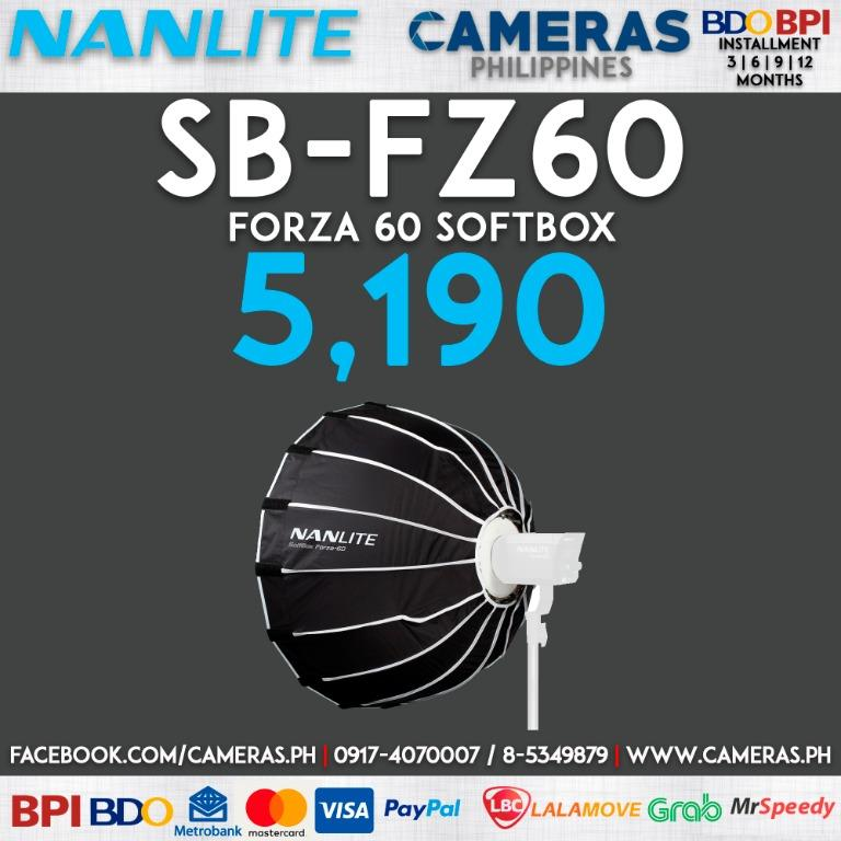 Nanlite Forza 60 Softbox | Credit Card | Installment | Cash | Cameras Philippines
