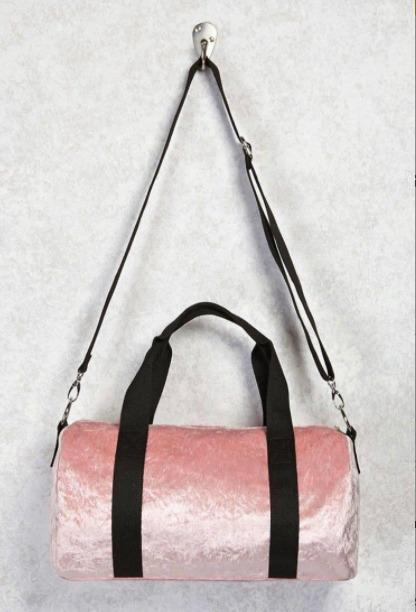 NEW Mauve Velour Bag