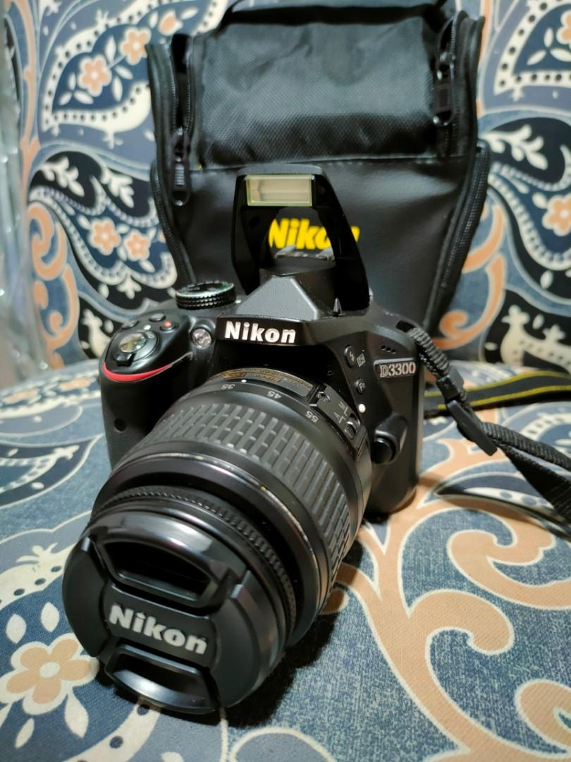 Nikon D3300 24mp DSLR Camera FHD Video Presentable Unit For Photography and Vloggers