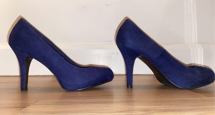 Royal Blue size 6 pumps (high heels)