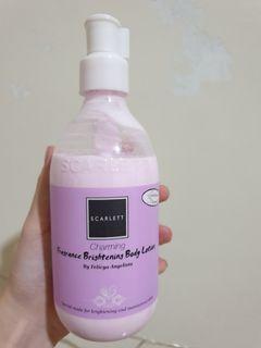 scarlett charming fragrance brightening body lotion