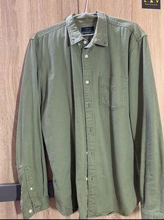 ZARA軍綠襯衫