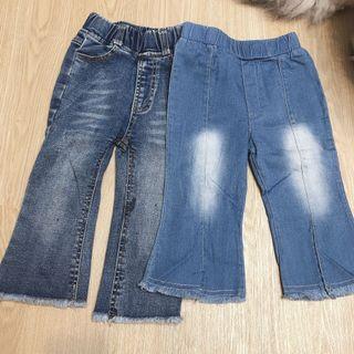 二手女寶牛仔褲2件長褲