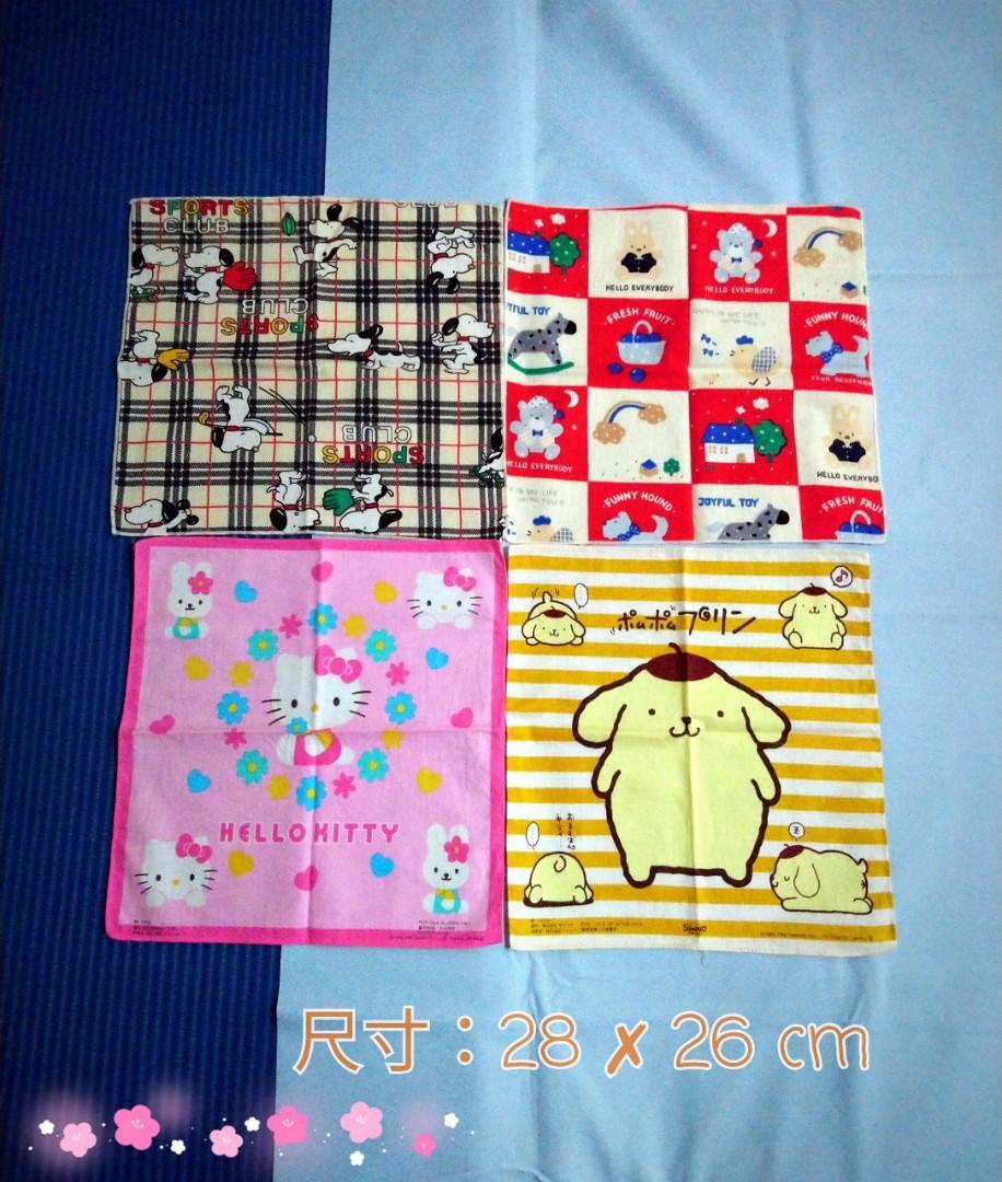 可愛的手帕❤💛💚💜一組賣