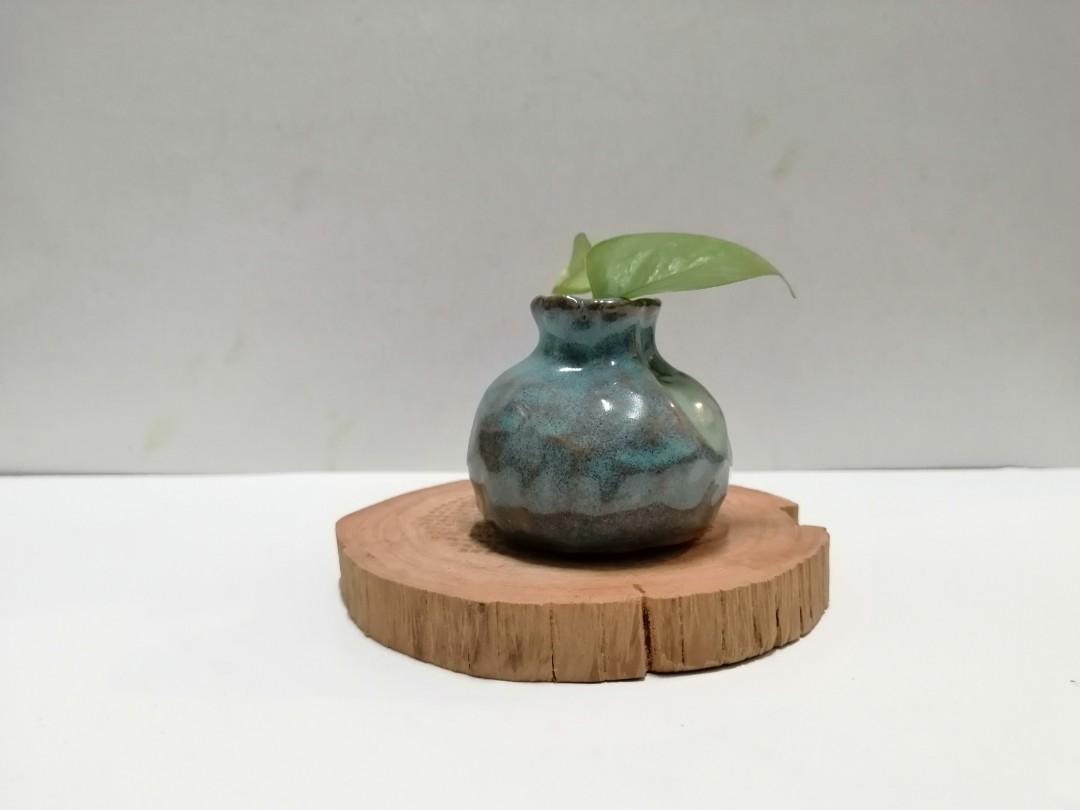 釉燒手捏小花器
