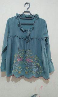 blouse mint