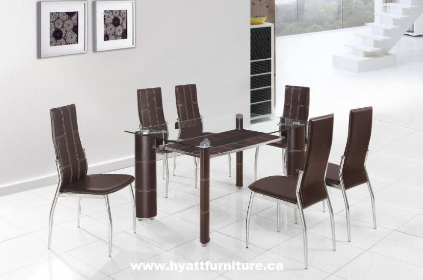 Brand New 7 Pcs Glass Top Dinette