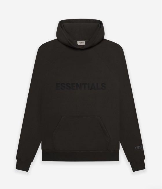 Essentials hoodie in weathered black colour