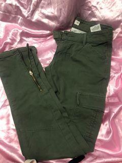 Green Levi jeans