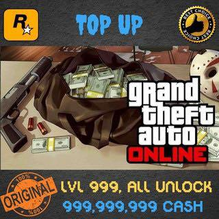 Gta 5 Online Top Up Cash Level Unlock Everything Video Gaming Gaming Accessories On Carousell