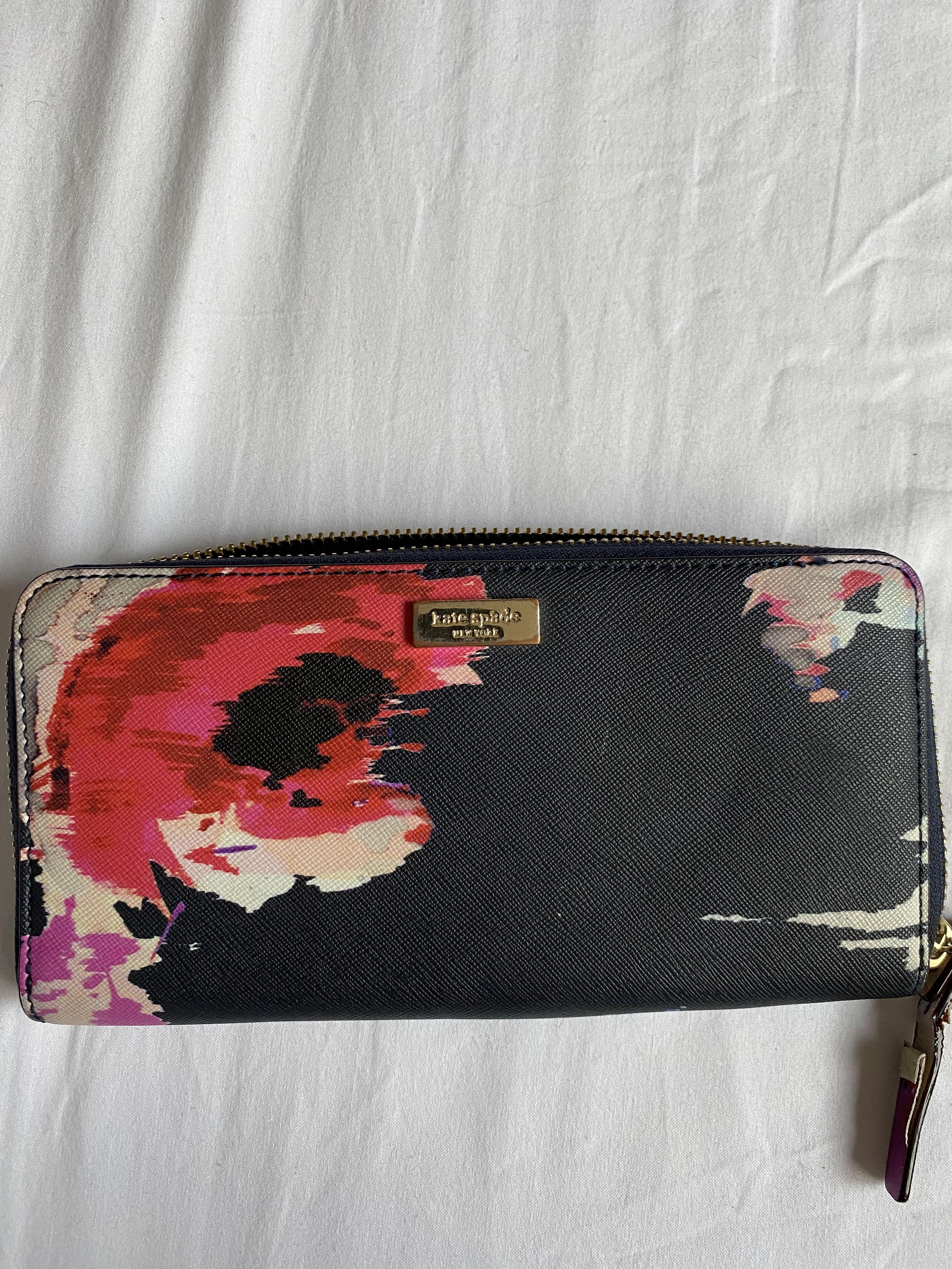 Kate Spade Abstract Floral Wallet