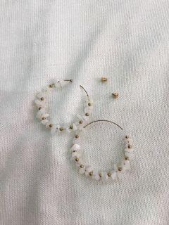 Lot of 9 Beaded Hoop Earrings (Great for Reselling)