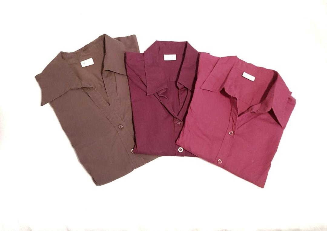 *LOT* Suzy Shier tapered business casual shirts