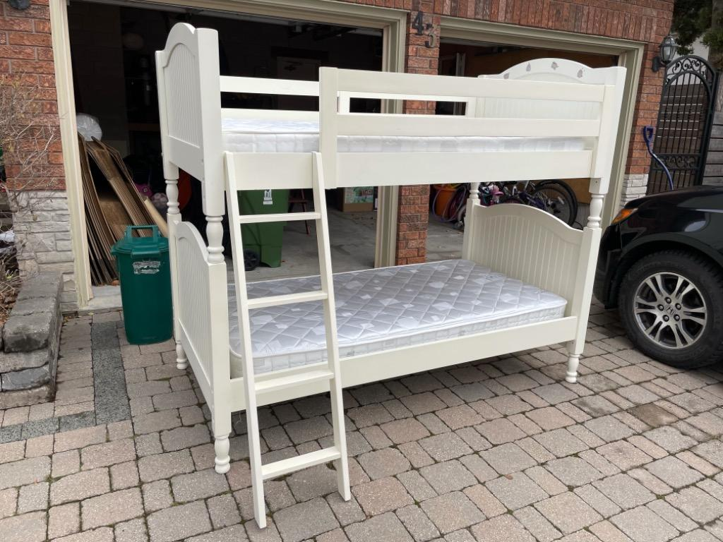 Pottery Barn bunk beds.