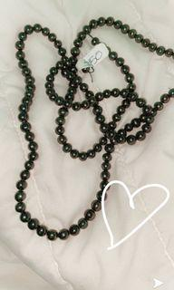 Real black pearl long unique necklace!