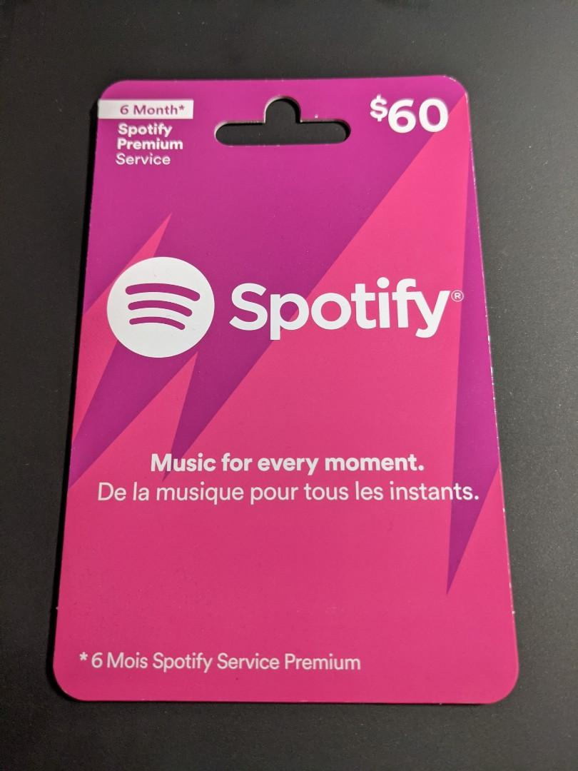 Spotify Gift Card - $60 value