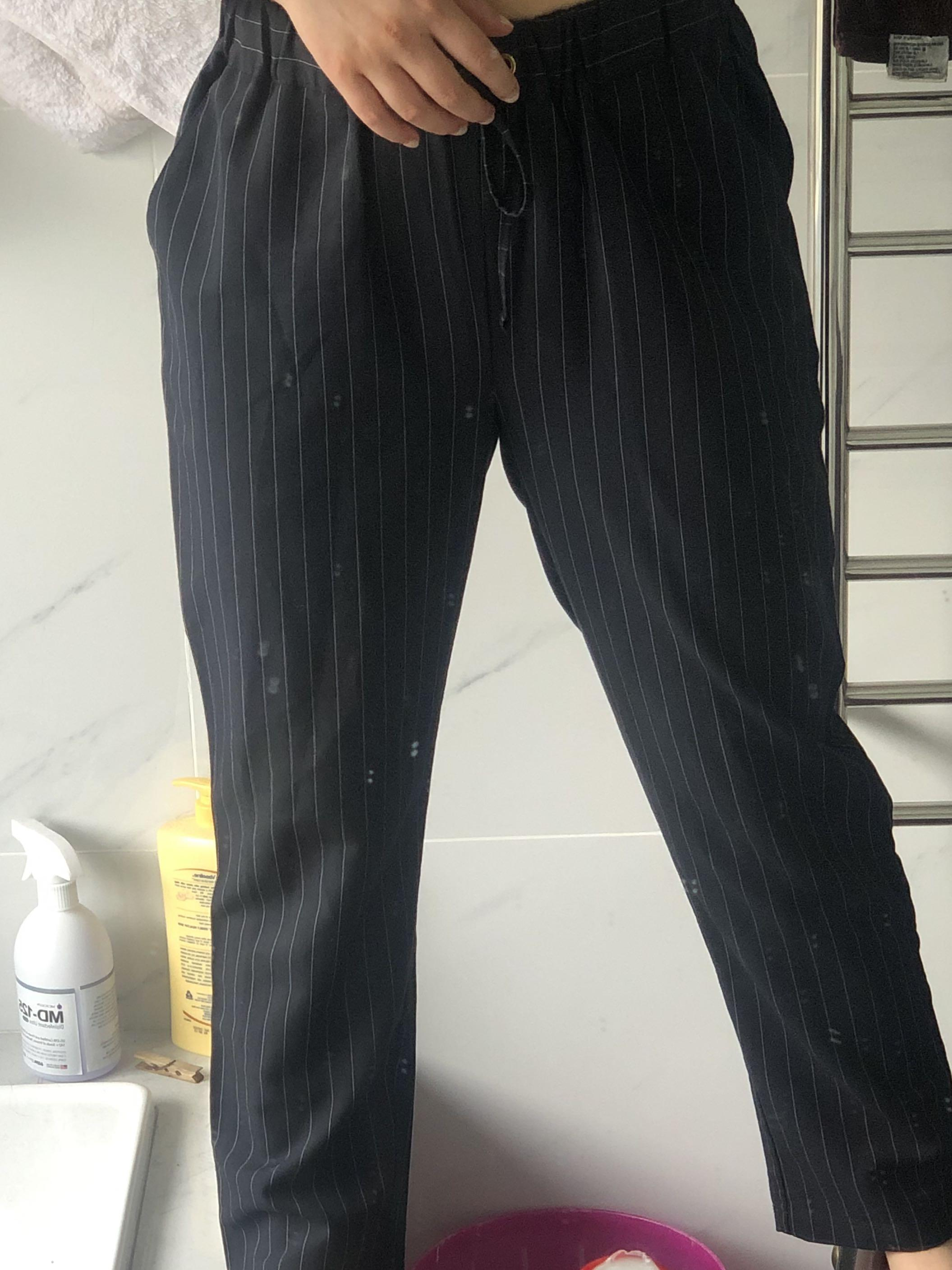 Stripy work pants