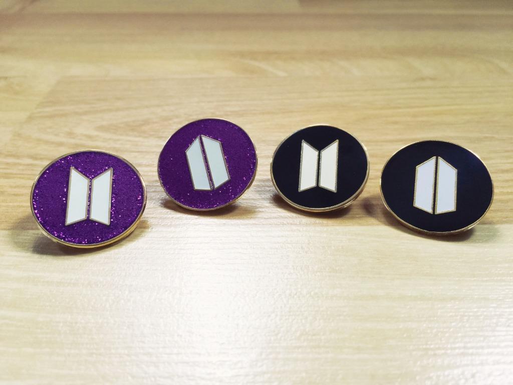 BTS Premium Gold Enamel Pin Badge: BTS ARMY Logo (glow in the dark!)