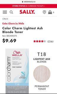 Wella T18 Lightest Ash Blonde Hair Toner