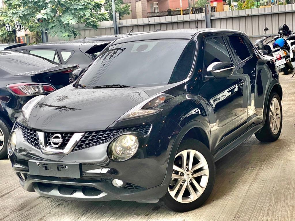 2015 Nissan Juke 1.6 黑 配合全額貸、找 錢超額貸 FB搜尋 : 『阿文の圓夢車坊』