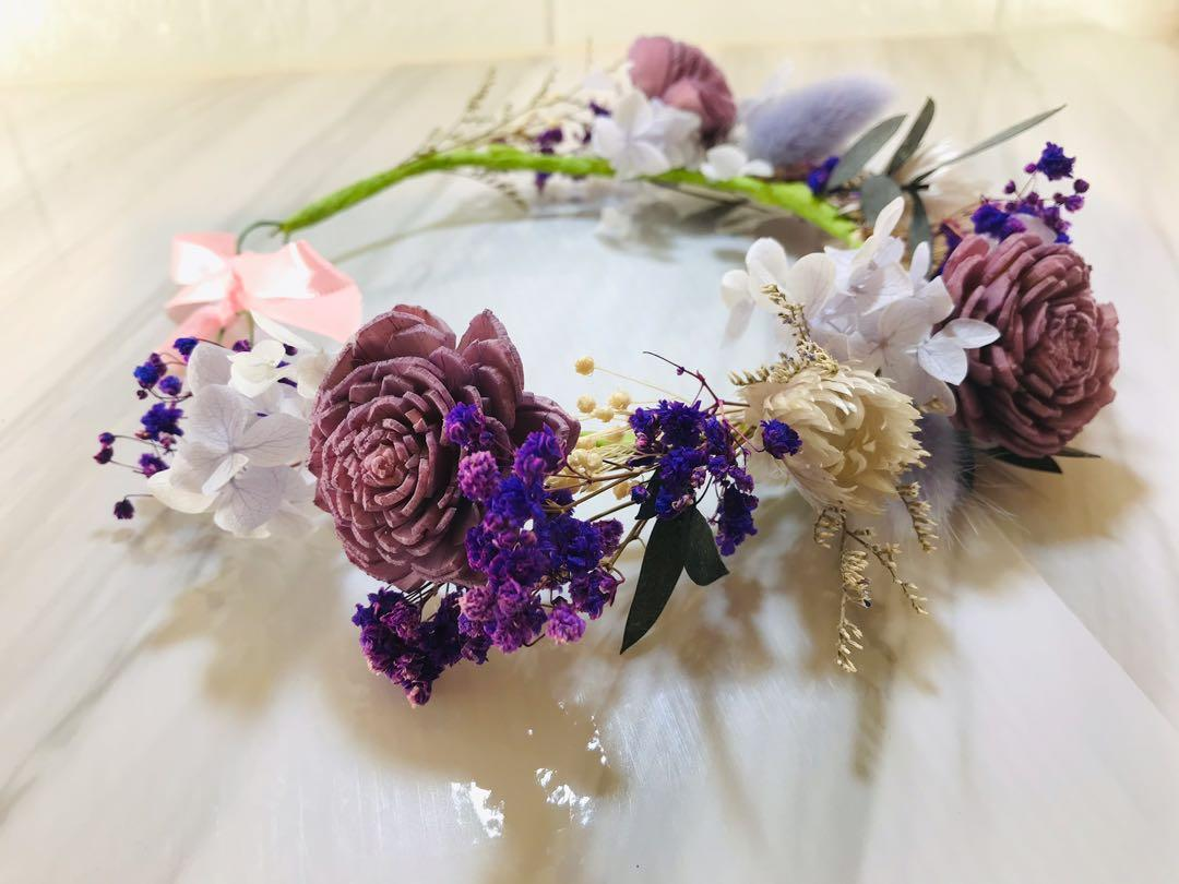新娘婚紗拍攝🎬森林系永生花圈