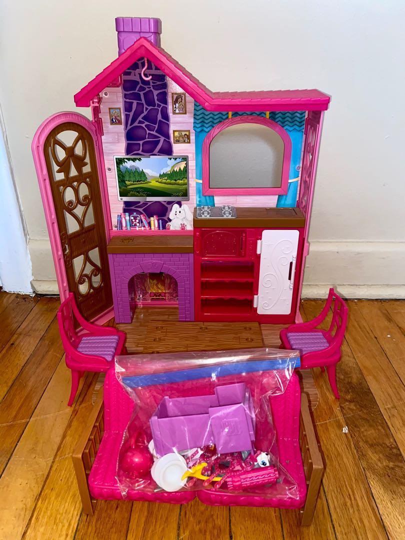 Barbie Camping Fun Cabin Playset