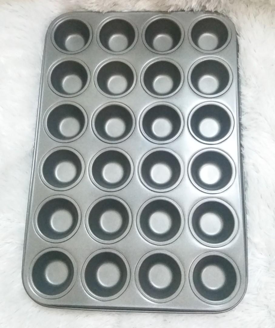 Cetakan kue muffin mini 24 cetakan