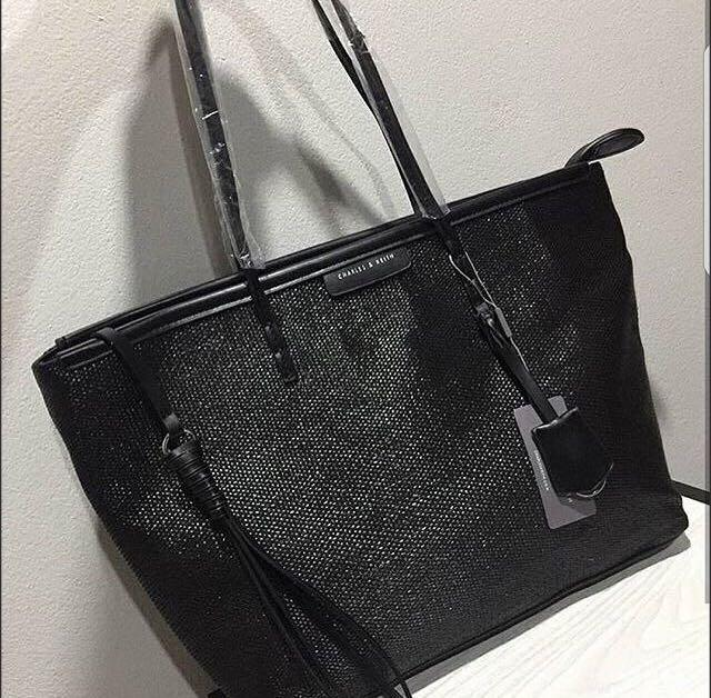 Charles and Keith Textured Tote