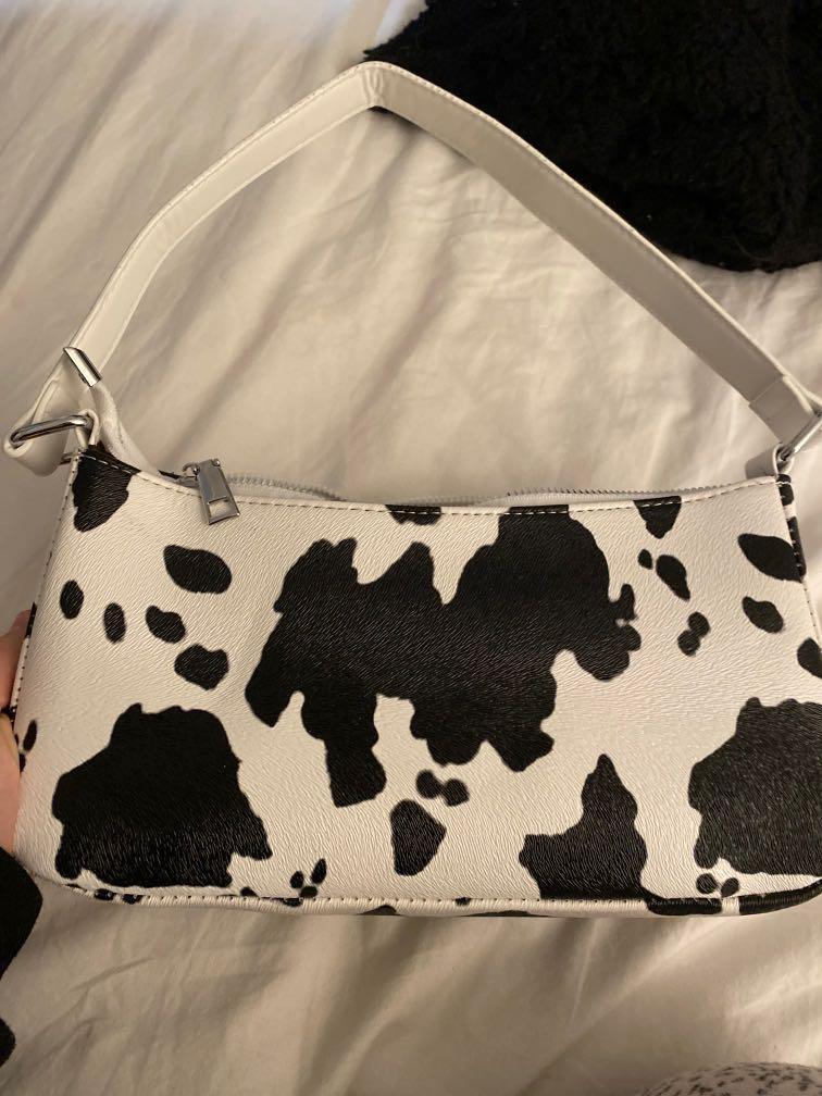 cow print mini purse