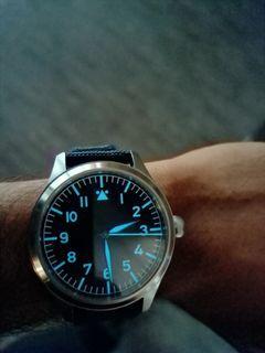 Escapement time flieger automatic watch