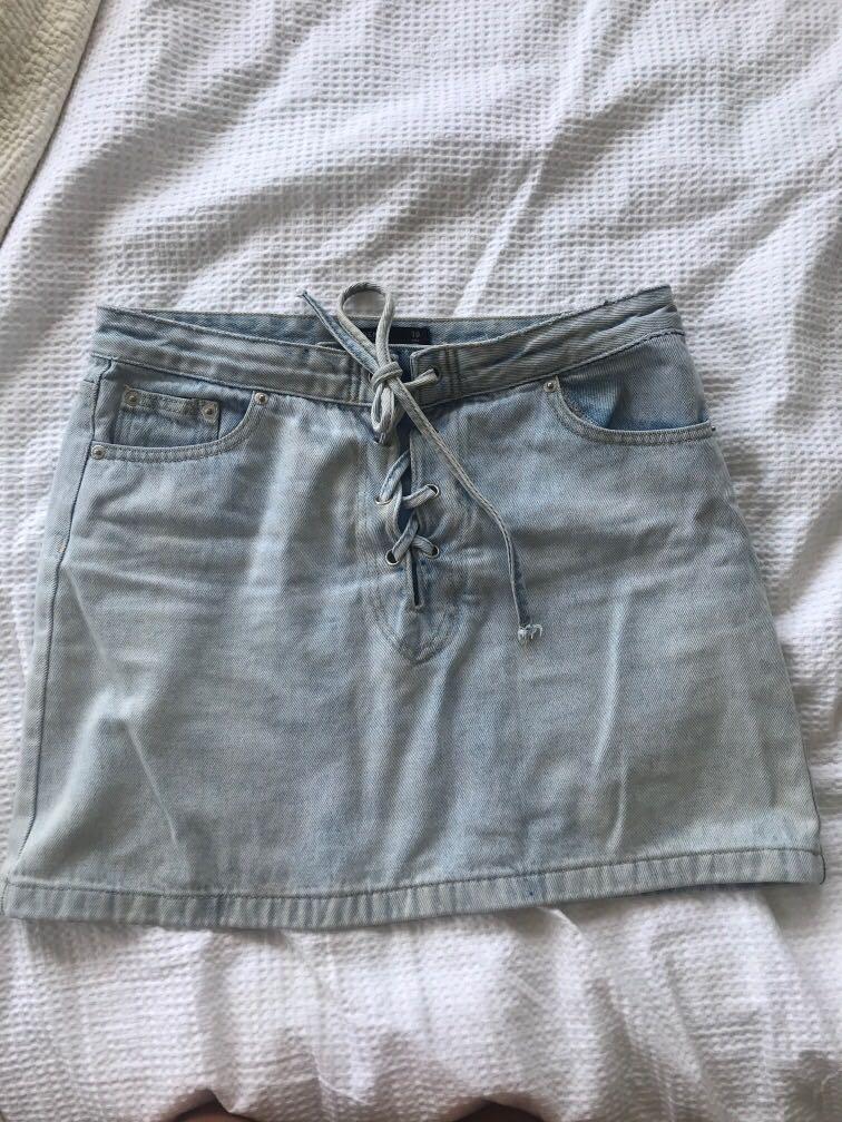 Glassons denim mini skirt
