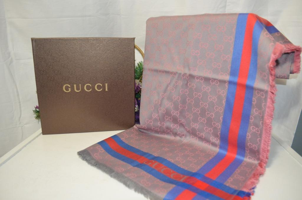 Gucci Silk Scarf with box