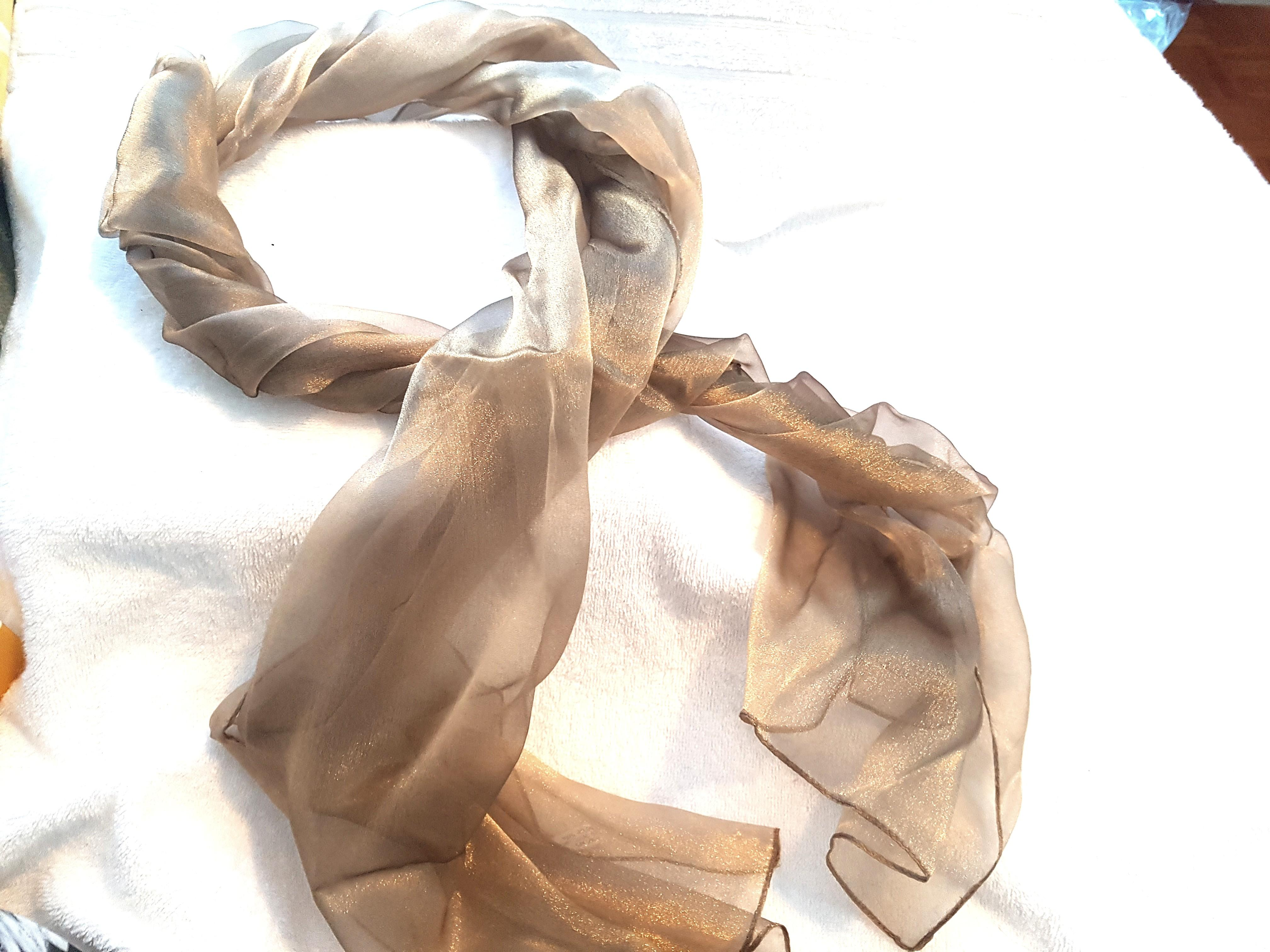 NEW Sheer chiffon bronze scarf shawl