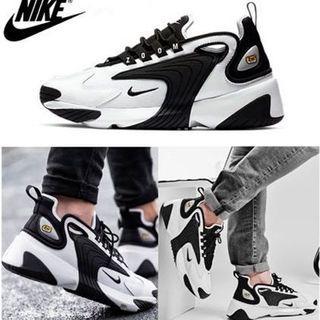 NIKE ZOOM 2K 男女鞋 復古 增高 老爹鞋  黑白 熊貓  情侶鞋 休閒鞋 運動鞋