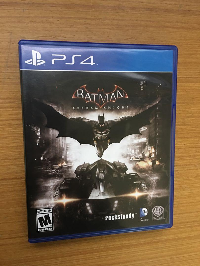 PS4 蝙蝠俠 阿卡漢騎士 Batman Arkham Knight english 英文 只出英文 光碟無刮