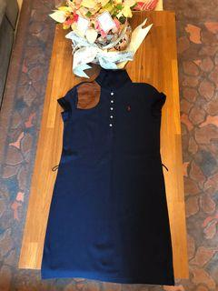 Ralph Lauren 馬術比賽款藍色小馬短䄂洋裝12-14Y匯款價