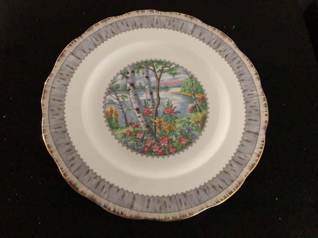 Royal Albert Silver Birch dinner plate