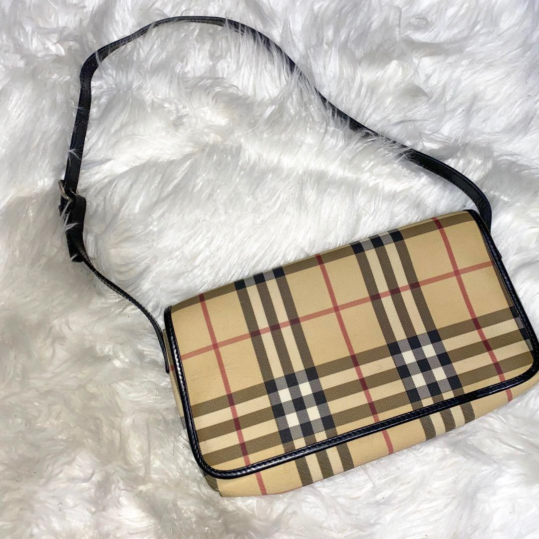Vintage Burberry flap shoulder bag