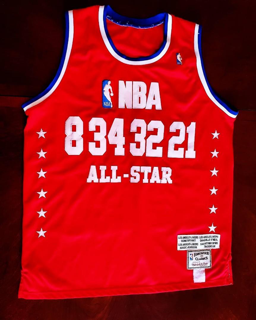 Vintage NBA All Star Mitchell & Ness Jersey Kobe Bryant, Shaq, Magic Johnson, Tim Duncan