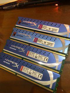 2999元便宜賣16G金士頓記憶體 (DDR3 -1600 -16GB (4GX4) )KHX1600C9D3K2/8GX 雙通道